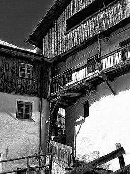 Buildings, Construction, Facade, Alpine, Trip, House