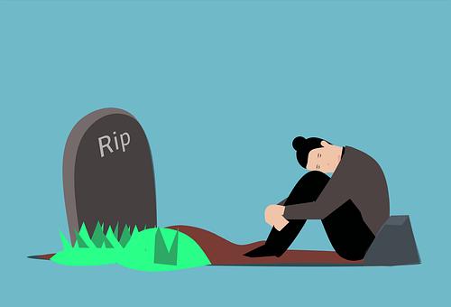 Grave, Grief, Man, Tomb, Gravestone, Graveyard