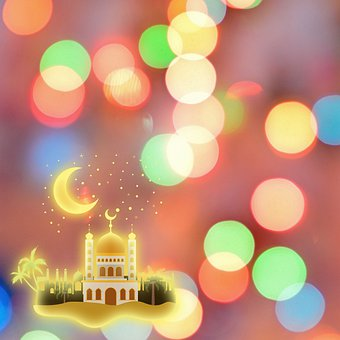 Digital Paper, Mosque, Bokeh, Lighting, Muslim Holiday