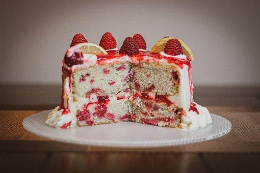 Cake, Dessert, Pastry, Sliced, Cut, Food, Snack, Baked