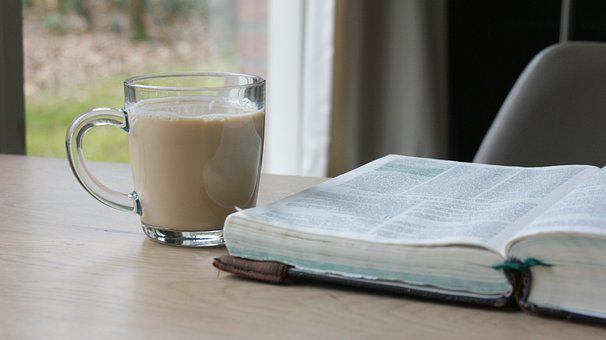 Book, Coffee, Glass, Cup, Table, Chair, Read, Cozy