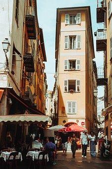 Street, Road, Buildings, People, Crowd, Vacation