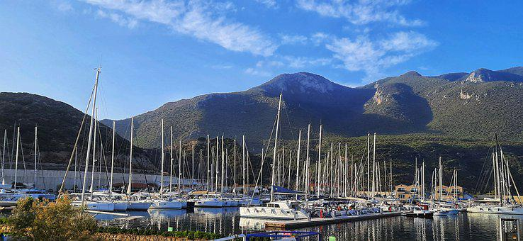 Yachts, Marina, Boats, Marine, Port, Yachting, Turkey