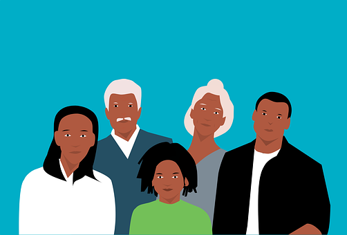 Group, Family, African American, People, Grandparents