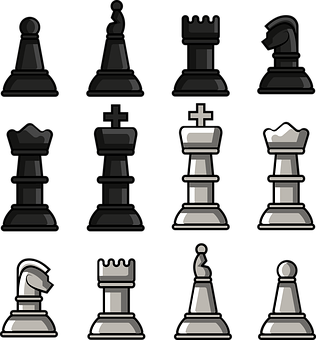Chess, Pieces, Chessboard, Board Game, Chess Set, Flat