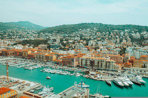 Port, City, Panorama, Marina, Harbor, Boats, Yachts