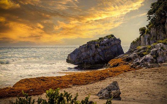 Beach, Rock, Coast, Coastline, Rock Formation, Sea
