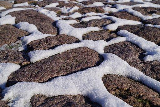 Snow, Winter, Stones, Ice, Cold, Paving Stones