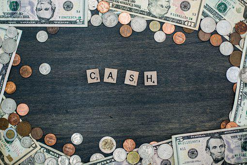 Cash, Money, Letter Tiles, Bills, Currency, Finance