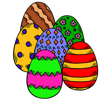 Easter, Eggs, Colorful, Painted, Decorative