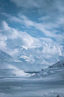 Snow, Valley, Mountains, Winter, Ice, Snowy, Frozen