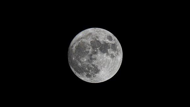 Moon, Night, Full Moon, Moonlight, Night Sky, Dark Sky