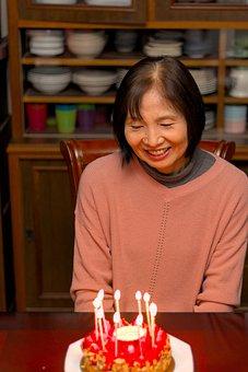 Woman, Senior, Happy, Grandma, Birthday, Smile