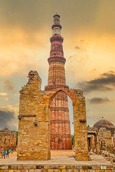 Tower, Building, Qutub Minar, Kutubminar, Ancient