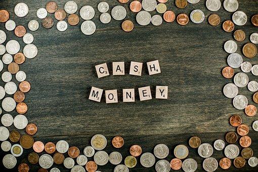 Cash, Money, Letter Tiles, Coins, Dollar, Penny