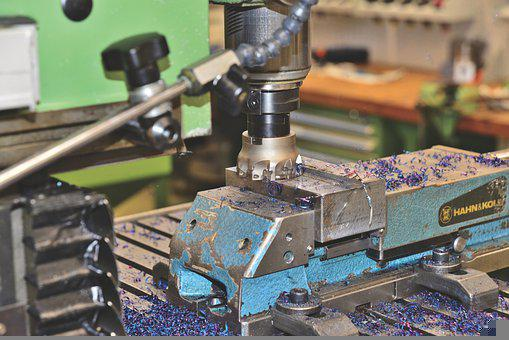 Milling Cutter, Machine, Metal Shavings, Tool