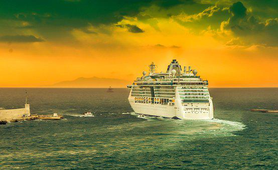 Ship, Sea, Sunset, Travel, Cruise, Maritime, Ocean