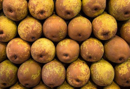 Pear, Fruits, Produce, Food, Harvest, Pattern, Closeup