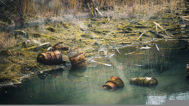 Barrels, Climate, River, Pollution, Poison Barrels