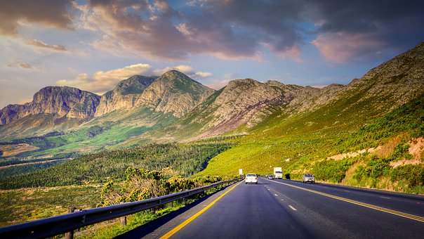 Road, Vehicles, Mountains, Traffic, Travel, Cars