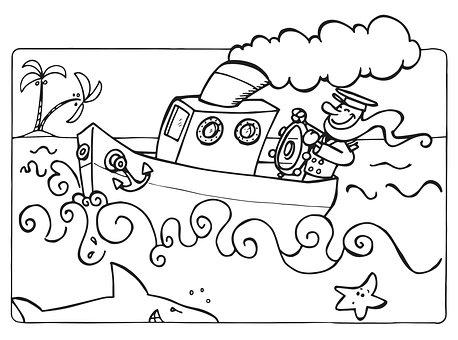 Steamboat, Captain, Sea, Sailor, Ocean, Water, Travel