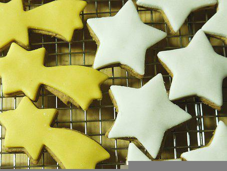 Kitchen, Cook, Cooking, Biscuits, Stars, Christmas