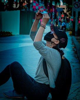 Tourist, Street, Taking Photo, Mask, Face Mask