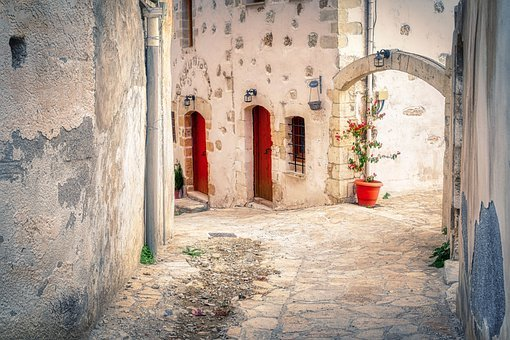 Alley, Buildings, Village, Old Town, Archway, Street