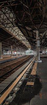 Tracks, Train, Platform, Train Station, Commuter Line