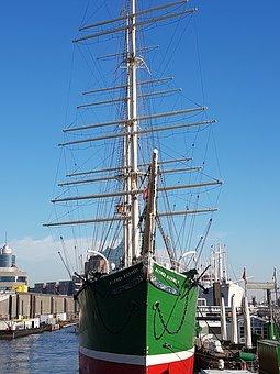 Ship, Sea, Boat, Port, Vacation, Hamburg, Meer, Urlaub
