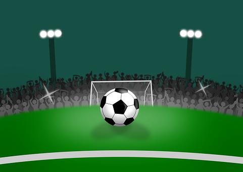 Football, Soccer, Stadium, Field, Ball, Match