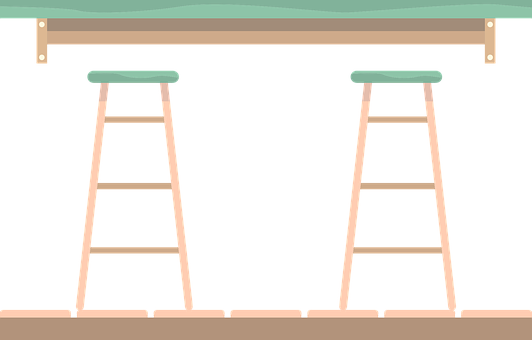 Stool Bar, Chairs, Table, Diner, Cafeteria, Cafe