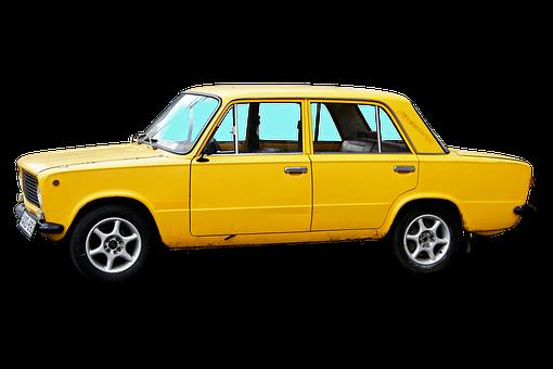Car, Lada, Russian Car Brand, Transport, Yellow Lada