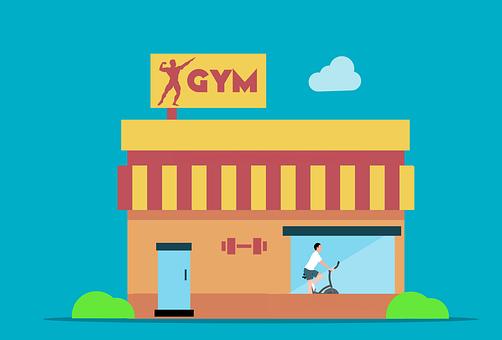 Gym, Building, Center, Facade, Gymnasium, Club, Window