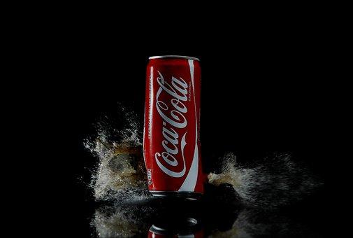Coca-cola, Drink, Beverage, Can, Soda, Splash, Cola