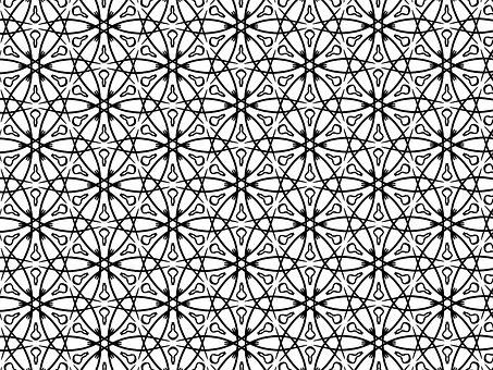 Symmetrical, Curves, Pattern, Seamless, Circles, Design