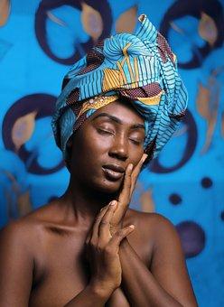Woman, Black Woman, Fashion, Bust, Head Scarf