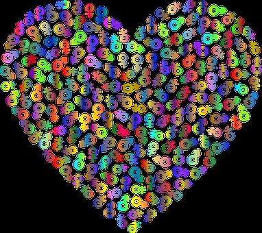 Heart, Gender, Symbol, Love, Passion, Man, Woman