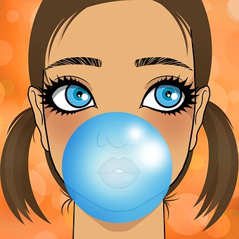 Child, Girl, Bubblegum, Kid, Pretty, Cute, Female