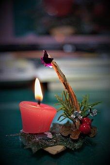 Candle, Background, Candlelight, Christmas, Lighting
