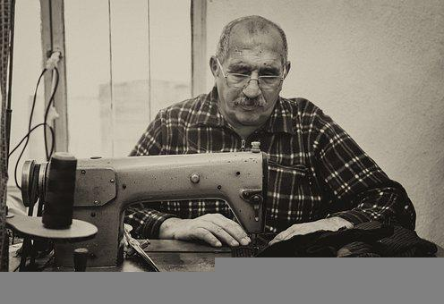 Tailor, Man, Old, Clothing, Human, Male, Fashion