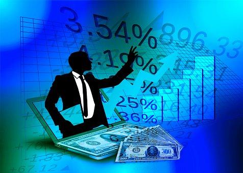 Man, Entrepreneur, Laptop, Chart, Curve, Success Curve