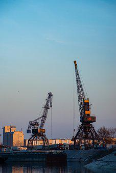 Harbour, Port, Crane, Metal, Transport, Building