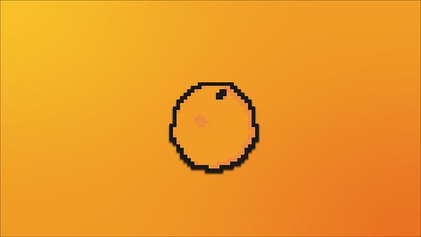 Orange, Pixel, Colorful, Color, Pixels, Poly, Design