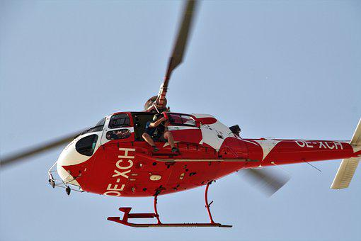 Helicopter, Flying, Rescue, Emergency