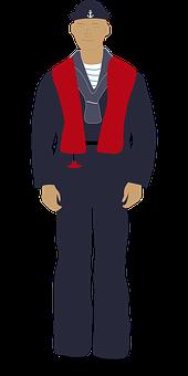 Sailor, Navy, Seaman, Life-jacket, Sea, Crew, Nautical