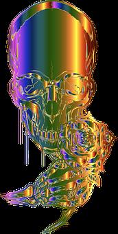 Skull, Skeleton, Death, Bones, Rose, Colorful