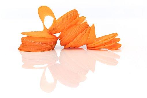 Spiral, Carrot, Orange, Hole, Centre, On White