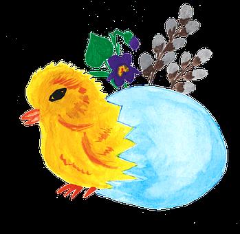 Chicken, Chick, Shell, Eggs, Egg, Easter Eggs, Spring