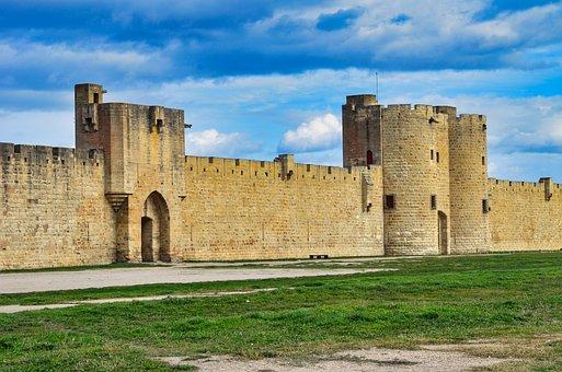 City Walls, Stone Walls, Landmark, Aigues-mortes